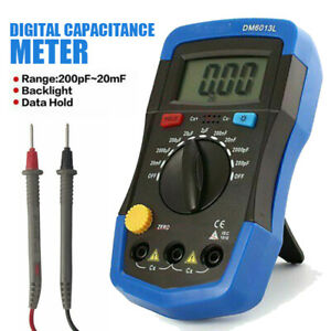DM6013L Digital Capacitance Meter Capacitor Tester 1999 Counts LCD Backlights