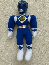Vintage Collectible MMPR Blue Power Ranger Plush Doll Toy Saban Billy 90s
