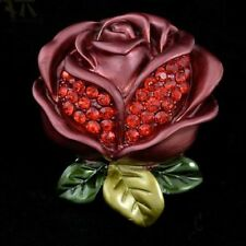 Crystal Rose Flower Bouquet Brooch Pin For Clothes Scarf  Accessories Good