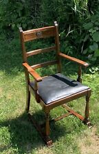 @1895 -1910   Arts & Crafts Mission Walnut Antique Arm Chair Throne Chair