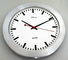 Horloge Murale Quartz -  Boîtier Métallique - Cadran Blanc - Design - Atlanta