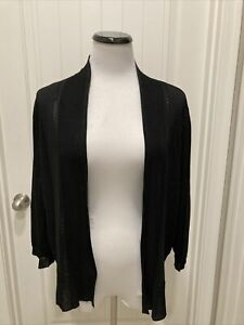 NWT Black Anne Klein Shrug/Cardigan 3/4 Sleeve SZ XL