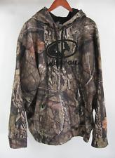 Mossy Oak Mens 2XL Hoodie Pullover Black Emblem Sweatshirt Break-up Country