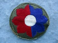 WWII US Army Patch 9th Division Europe WW2