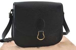 Auth Louis Vuitton Epi Saint Cloud GM Shoulder Cross Bag Black M52192 LV D0371