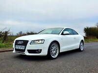 2008 57 Audi A5 Sport 2.7 AUTO white 130k SH MOT sat nav, heated seats,  PX !