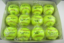 "Lot of 12 Champro Gsp44 Slow Pitch Softball 12"" High Visibility Yellow 375/.44"