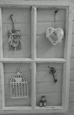 Deko Fensterrahmen Sprossenfenster Brocante Weiß Holz Shabby CHIC 60cm Vintage