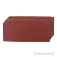 Silverline 1/3 Sand Paper Sanding Sheets 60 80 120 240 Grit Pack of 10