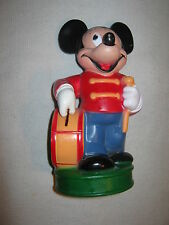 Vintage Marching Band Leader MICKEY MOUSE Disney Piggy Bank Excellent Condition