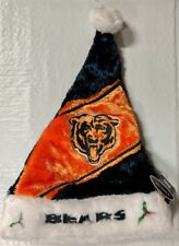Chicago Bears Team Logo Holiday Plush Santa Hat NEW Christmas Himo