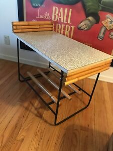 Mid Century Wroughtan End Table Shirley and Herb Ritts Sr. Rare Ritts Co 1954
