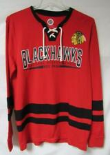 Chicago Blackhawks Mens Size Large Jersey Style Waffle/Thermal Shirt A1 1446
