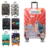 """18-32"""" Elastic Trolley Luggage Cover Spandex Thicker Travel Suitcase Protector"""