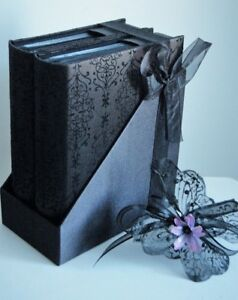 "Memories ""Two Luxury Embossed Photo Album Keepsakes"" -  JaNice Interiors Accents"