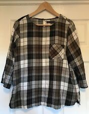 M&S Checked Top, Size 16
