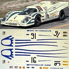 Porsche 917K - équipe Audi - Sebring 1970 - #16 - 1:24 Sticket/ Décalcomanie