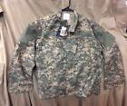 US Army Defender Military FR Ripstop Camo Coat ACU Medium Short Aramid NWT