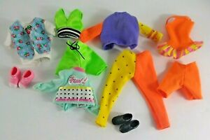 Vintage Barbie Skipper Clothes 12 Piece Lot 2 Pairs Of Shoes 80s 90s Outfits