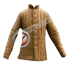 Armor Padded Play Full Sleeve Gambeson Thick Camel Long Medieval
