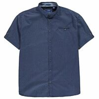 D555 Bobby Short Sleeve Shirt Mens Gents Everyday Cotton Pattern Chest Pocket