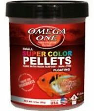 Omega One Small Floating Super Color Pellets Fish Food 3.5 oz.