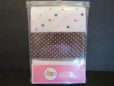 NEW! CIRCO Infant 3-6 Months~3 PACK~LONG Sleeve~BODYSUITS~Hearts, Dots, Stripes