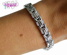 LADIES SUPER STRONG BIO MAGNETIC SILVER ALLOY HEALING BRACELET PAIN RELIEF