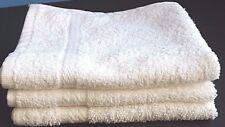 10 Piece NEW Face Wash Cloth 12 x 12 100% Cotton Soft White Facial Hotel  Spa