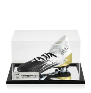 Xavi Official FIFA World Cup Signed White, Black & Gold Adidas Predator Boot In