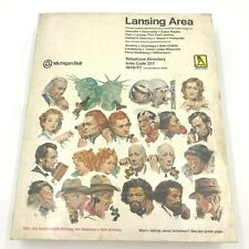 Vintage 1976 1977 Lansing Phone Book Yellow Pages Directory Michigan Bell BK12