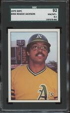 1975 SSPC #494 Reggie Jackson SGC 92  NM/MT+ 8.5 Oakland A's Hall-of-Fame