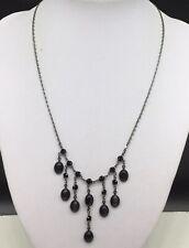 Park Lane Black Dangle Drop Rhinestone Stone Dainty Dangling Necklace