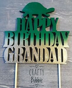 PERSONALISED TORTOISE WOODEN(NOT CARD) Birthday Cake topper HAND MADE any colour