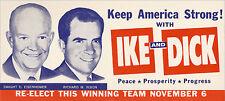 1956 Eisenhower Nixon KEEP AMERICA STRONG Campaign Brochure (4421)