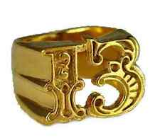 LOOK Heavy Lucky Number # 13 Thirteen Gold plated silver 925