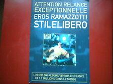 "EROS RAMAZZOTTI - PLAN MEDIA / PRESS KIT ""STILELIBERO"""