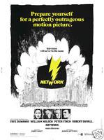 Network William Holden vintage movie poster print