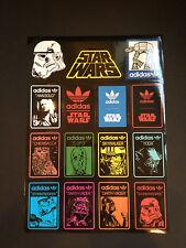 15 Adidas Star Wars Skateboard Longboard Vintage Vinyl Sticker Laptop Car Decals