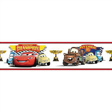 DISNEY CARS WALLPAPER BORDER peel & stick Lightning McQueen Mater room decor
