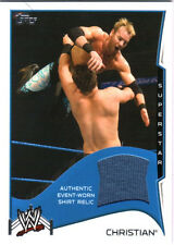 WWE Christian 2014 Topps Event Used Shirt Relic Card Blue
