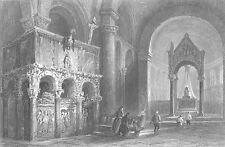 MILAN TOMB OF SAINT AMBROSE Basilica of Sant'Ambrogio ~ 1842 Art Print Engraving