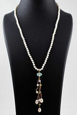 18 inch Akoya Pearl necklace 4.5MM with jeweled front piece and 14kt clasp