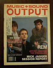 R.E.M. cover MUSIC SOUND OUTPUT magazine June 1985 stranglers MICK JAGGER