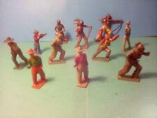 BRITAINS + LEAD COWBOYS &  INDIANS  c1950's ,SPARES O REPAIR .LOT.T.21.*U.K.ONLY