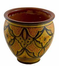 Flower Pot Moroccan Spanish Garden Drain Hole Ceramic Terracotta Planter Plant