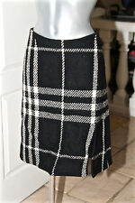 luxueuse jupe écossaise en laine hiver BURBERRY taille 38 (UK 4 US 6)