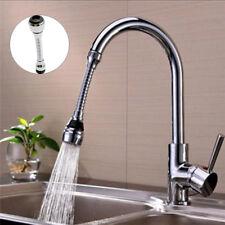 Plastic Chromed Kitchen Swivel Tap Sprayer Faucet Nozzle 360 Degree Aerator