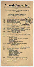 1924 ATLANTIC PENNSYLVANIA Christian Endeavor Program CE Crawford County PENN PA