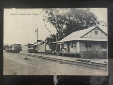 1915 Belgian Congo Real Picture Postcard Cover Rppc Elisabethville Station